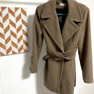 Calvin Klein Brown Wool Coat - Size 12
